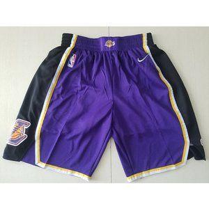 NEW NBA Nike 19 season Lakers Retro purple Shorts